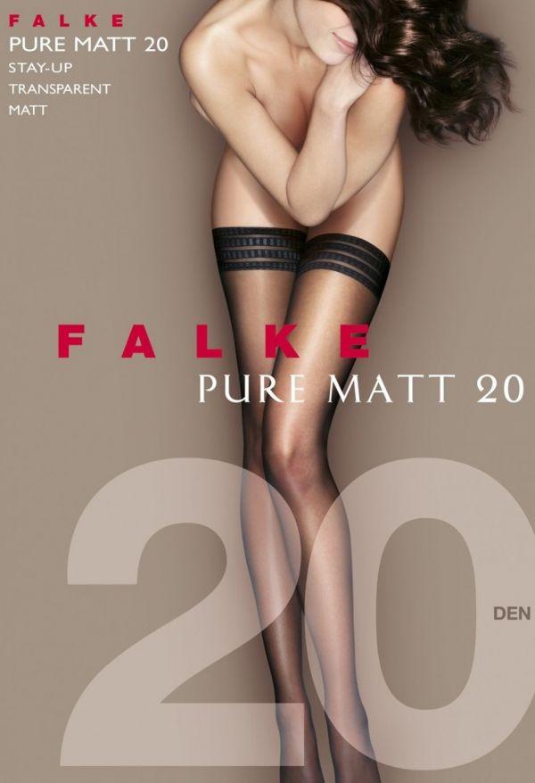 Falke Pure Matt Stay-Up 20 DEN