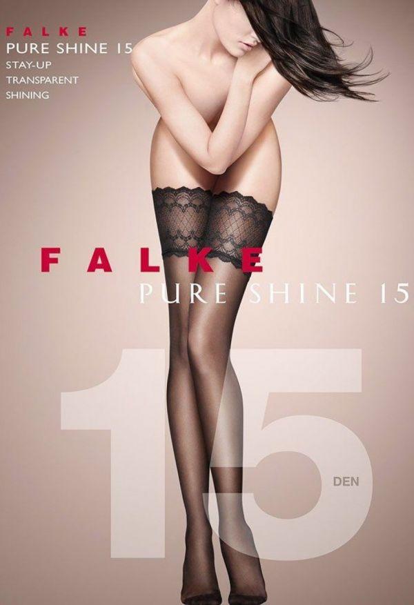 Falke Pure Shine Stay-Up 15 DEN